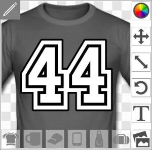 t shirts nombres personnalis s customisez un maillot ou un t shirt chiffre. Black Bedroom Furniture Sets. Home Design Ideas