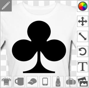 Tee-shirt Symbole trèfle uni à imprimer à designer en ligne.