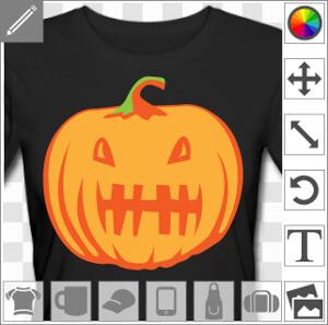 Citrouille d'Halloween rigolote à personnaliser en ligne.