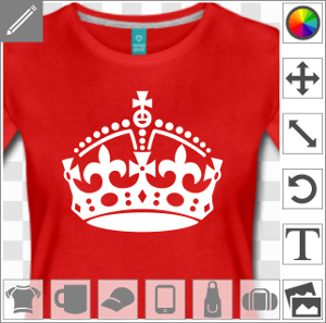 Couronne keep calm pour imprimer un t-shirt keep calm parodique en ligne.