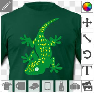 Gecko tacheté, stylisé, à personnaliser en ligne.