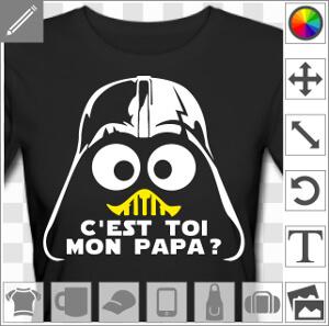 Je suis ton père, design humour Dark  Vador à personnaliser.