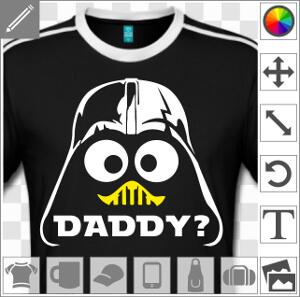 Dark Vador personnalisé et visage de Caliméro. I am your father.