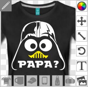 Design geek Dark Vador mixé avec Caliméro, c'est toi mon papa?