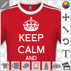 Keep calm à personnaliser, couronne anglaise et keep calm and écrit en typo arial à compléter.