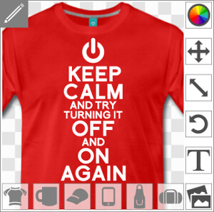 Keep calm off and on, blague geek et design développeur une couleur
