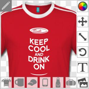 Keep cool and drink on, parodie Keep Calm et canette de bière, design alcool et Saint Patrick personnalisable. La typo est un peu bombée pour créer un