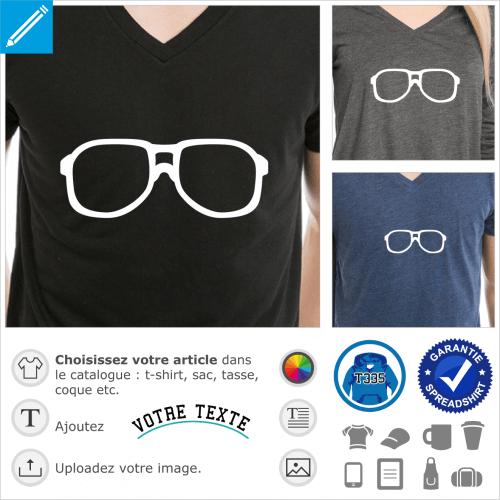 Lunettes de Steve Urkel à monture de nerd à gros verres, design vectorisé à imprimer en ligne.
