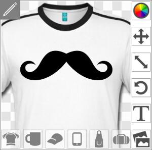 Moustache anglaise classique élégante.