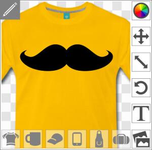 Moustache épaisse de hipster à imprimer en ligne.