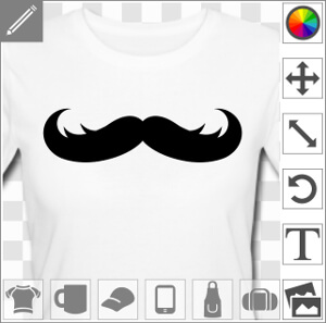 Moustache ébouriffée rigolote personnalisable.