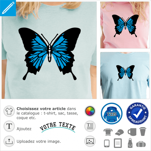 Papillon simple coloré à personnalsier et imprimer en ligne.