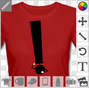 Chapeau d'exclamation, point d'exclamation et chapeau haut de forme, un design humour et typo.
