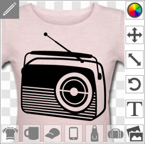 t shirt radio des ann es 60 poste radio vintage personnaliser. Black Bedroom Furniture Sets. Home Design Ideas