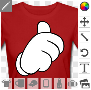 Imprimez un t-shirt thumbs up original et personnalisé.