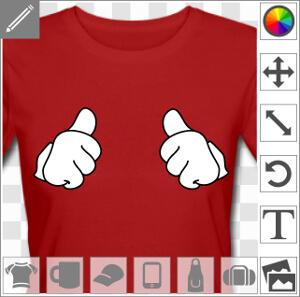 Thumbs up, pouces en l'air, un design à personnaliser et imprimer en ligne.