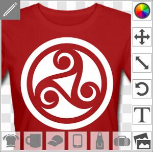 Triskel en découpe, symbole 3 branches celtique à imprimer en ligne.