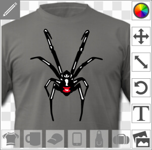 Créez votre t-shirt veuve noire black widow avec ce design vectoriel d'araignée.