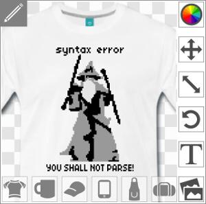 You shall not pass, design geek et développeur à imprimer sur fond blanc.