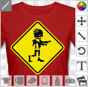 Panneau zombie, panneau routier détourné attention zombies.