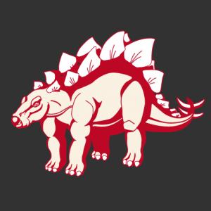 Stegosaurus à imprimer sur t-shirt. Dinosaure 3 couleurs opaque à personnaliser en ligne. Choisissez vos couleurs.