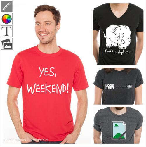 T-shirts blagues classiques et blagues d'auteur à personnaliser.