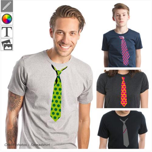 Fausses cravates à personnaliser et imprimer sur t-shirts ou accessoires.