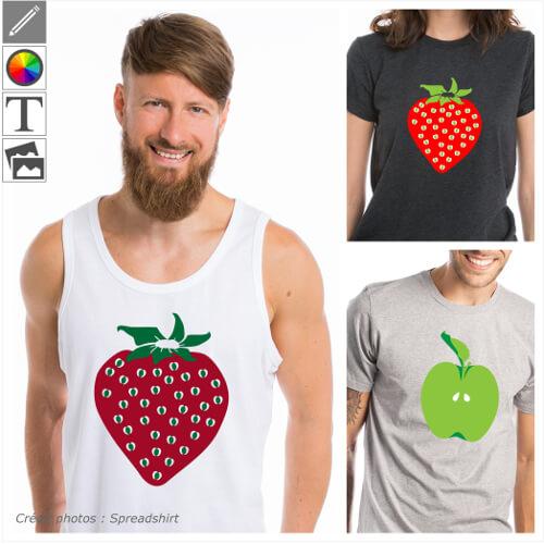 T-shirts fruits personnalisés à imprimer en ligne.