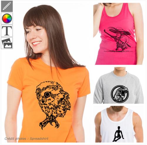 T-shirts dessin personnalisés, motifs art et dessins vectoriels à imprimer en ligne.