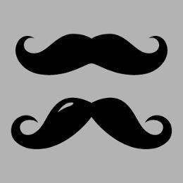 Moustaches dessinées en format personnalisable à imprimer sur t-shirt.