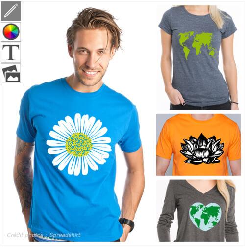 T-shirts nature et écologie, dites votre amour de la planète avec un t-shirt.