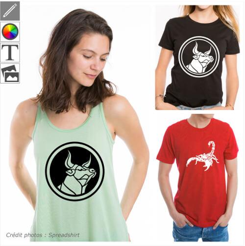 T-shirts astrologie et signes du zodiaque à personnaliser en ligne.