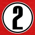 Numéro 2, numéro en caractère épais inscrit au centre d'un cercle.