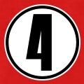Personnalisez votre t-shirt 4 avec ce design sport et numéro entouré d'un cercle.