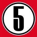 Cercle et numéro 5, un design sport et numéros fétiches.