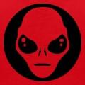 Alien stylisé et contour en cercle.