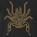 Araignée dessinée en lignes de circuit imprimé.
