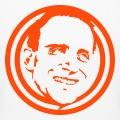 Portrait de B. Vian dessiné en une couleur sur fond transparent.