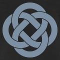 Boucles celtes symétriques entrelacées.