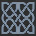 Carré celtique à personnaliser en ligne, formé de quatre boucles symétriques imbriquées.