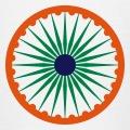 Chakra aux couleurs du drapeau indien.