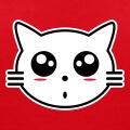 Tête de chaton stylisé dessiné en style anime.