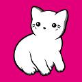 Chat stylisé trois couleurs à imprimer sur t-shirt