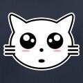 Chaton mignon en tracés manga, tête de chat à personnaliser.