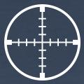 Design viseur gradué, un design cible une couleur en tracés fins personnalisables.