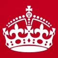 Couronne royale britannique à personnaliser, créez votre blague Keep Calm en ligne.