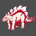 Stegosaurus 3 couleurs de profil, à imprimer sur t-shirt ou accessoire. Personnaliser un t-shirt dinosaure original.