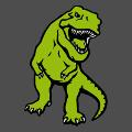 Dinosaure t-rex trois couleurs à imprimer en ligne