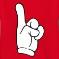 Doigt de Mickey pointé, un design doigt et comic.