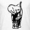Bébé éléphant stylisé dessiné en une couleur à personnaliser.